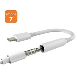 3.5mm cable de audio del conector online-3.5mm Jack Aux cable de audio macho a hembra auricular adaptador de cable para iPhone 7 7 más bolsos opp