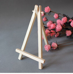 Wholesale 5pcs cm Mini Artist Wooden Easel Wood Wedding Table Card Stand Display Holder For Party Decoration