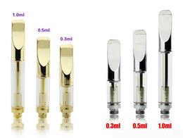 Wholesale 510 Gold Stainless Steel Pyrex Glass Wax Oil CBD Thick Tank ml BUD Touch Cartridge O Vape Pen Kits VS Amigo Itsuwa Liberty