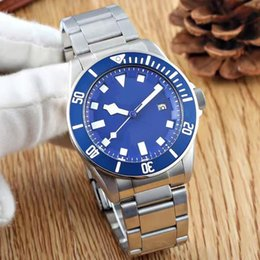 Wholesale tudorrrr brand limited luxury automatic movment stainless steel brand blue big dial mm mens sport wristwatch r watches