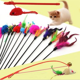 Wholesale 3091 Pet Product Pet Toys Cat Toys With Feather Cat Playing Stick Funny Hot Sale