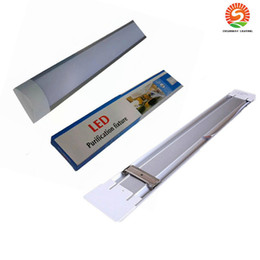 New Surface Mounted LED Batten Double row Tubes Lights 2FT 4FT T8 Fixture Purificati LED tri-proof Light Tube 20W 40W AC 110-240V sunway518