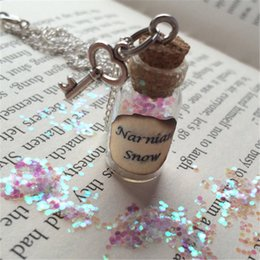 12pcs lot Narnian Snow Bottle Necklace Pendant key charm inspired by The Chronicles of Narnia silver tone jewelry