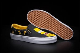 Free shipping 2017 new vansu cartoon Simpson lazy set hot style men's women's fashion classic casual flat shoes board canvas sneaker shoes