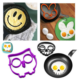 Wholesale YUMU Cooked Fried Egg Skull Owl Rabbit Shaper Silicone Moulds Egg Rings Silicone Mold Cooking Tools Kitchen Supplies Fried Egg Mold Pancake