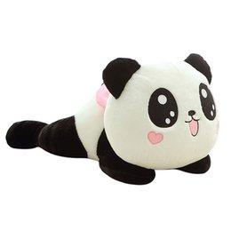 2017 oreillers panda en peluche Grossiste- Peluche mignonne Panda Poupée Toy Stuffed Animal oreiller qualité Bolster Cadeaux Cadeaux Enfants 20cm Livraison gratuite oreillers panda en peluche à vendre
