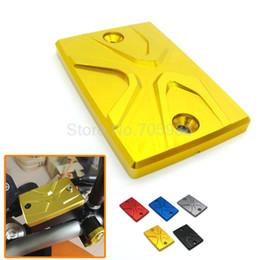 Wholesale For yamaha MT MT mt09 mt07 Z6 S2 Gold colorMotorcycle accessories CNC Brake Fluid Reservoir Cap Cover