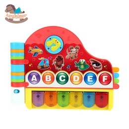 Wholesale Arshiner Baby piano toy Learning Electronic Toy Musical Rhymes Book With Light for Children Kids sacles