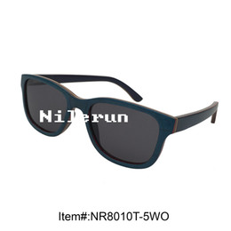 comfortable curved blue birch wood sunglasses with opening cut for changing lens