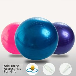 Wholesale YOGA BALL Anti Burst and Slip Resistant Ball with Quick Pump for Fitness Stability Balance Strength Workout Guide