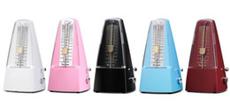 Free shipping Plastic Pyramid traditional Tempo Mechanical Metronome colorful Music Metronomes Piano Violin Guitar Use Instrument