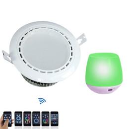 Wholesale 10PCS RGBW WIFI Wireless Control Flush Mount LED Downlight V V V for Modern Indoor Lights RGB White Lamp pc Mi Light WIFI CE