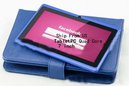 Acheter en ligne Pouces 1gb-Navire de nous Quad Core 7 pouces gooTablet PC avec facebook flash Andriod4.1 1.5Ghz Livraison gratuite
