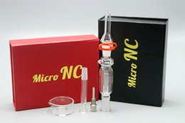 Wholesale 2016 Glass Water Pipe Micro NC Kits With mm Titanium Nail Quartz Tip Joint Dish Dab Rig Mini Glass Bongs DHL