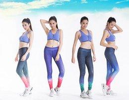Spot sports running speed dry yoga fitness pants tight women high elastic pants gradient star print pants