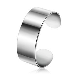 Descuento alto acero inoxidable pulido Popular pulsera de joyería pulsera brazalete de pulsera de acero inoxidable pulido de alta calidad de estilo punky simplemente lisa para las mujeres XPW50517