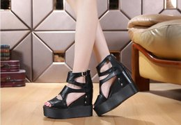 Ms summer of beautiful the new comfortable high-heeled wedge waterproof table fish mouth joker fashion cool shoes