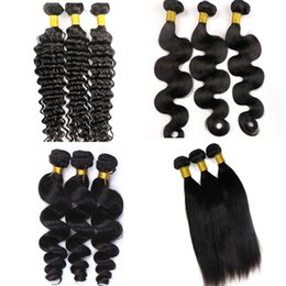 Brazilian Hair Bundles Virgin Human Hair Weaves Body Wave Wefts Unprocessed 8-34inch Peruvian Indian Malaysian Mink Human Hair Extensions