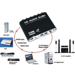 S audio vidéo hdmi en Ligne-Freeshipping numérique AC3 optique à stéréo surround analogique HD 5.1 audio décodeur 2 SPDIF Ports HD audio Rush pour HD lecteurs DVD pour XBOX360