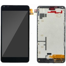 Wholesale For Microsoft Nokia Lumia LCD Tested inch Black Replacement N640 Display Frame With Touch Screen Piece with tools