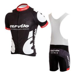Wholesale 2016 Black White Cycling Jerseys Short Sleeve With Cool Max Padded Bib None Bib Pants Men Summer Ropa Ciclismo Bicycle Clothing