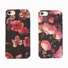 Caoutchouc pression en Ligne-Pour iphone 6S 7 Rosa chinensis Fleur Snap Sur Caoutchouc Hard Back Case Couverture Imprimer Pour iphone6 7 plus