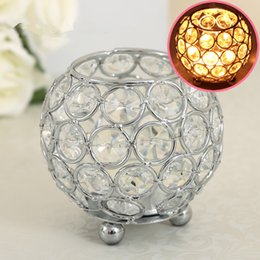 Gold Crystal Votive Candle Holders for Home Decor Wedding Centerpieces Moroccan Candle Lantern Bowl Candle Jar Candelabra 8cm
