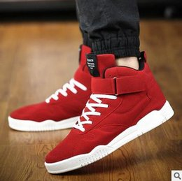 2017 Spring Men Shoes Trainers Leather Fashion Casual High Top Lace Up Loafers For Men Red Zapatillas shoes