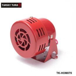 Tansky - Universal New 12V Motor Driven Red Air Raid Siren Horn Alarm Horn Car Truck TK-HOM070