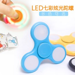 Shake Light Fidget Hand Spinner Colorful Lighting For Autism and ADHD Finger Spinner Anti Stress Gift Toy