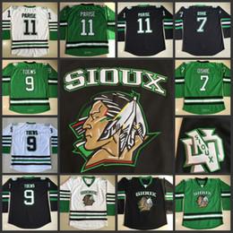 Wholesale North Dakota Fighting Sioux Hockey Jerseys TJ Oshie Jonathan Toews Zach Parise Fighting Sioux DAKOTA College Throwback Jersey