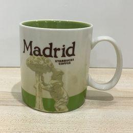16oz Capacity Ceramic Starbucks City Mug Best Classical Coffee Mug Cup Madrid City