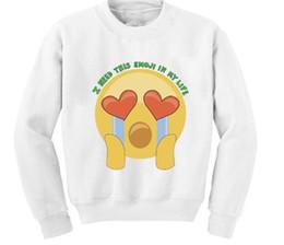 Wholesale Chinese Style Suits Women - Wholesale- Women Fashion Autumn Winter Cute Emoji Face Print 3D Sweatshirts Hoodies Casual Couple Clothing Sport Suit Tracksuit hot