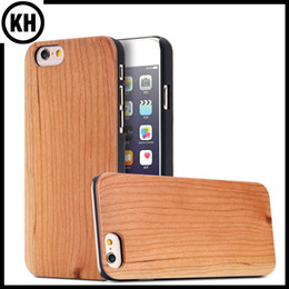 Wholesale Original Ecolog True Wood Bamboo Case Cellphone Cover For iPhone6 iPhone6 Plus Plus Solid Cherry Wooden PC Edge Protector Phone Shell