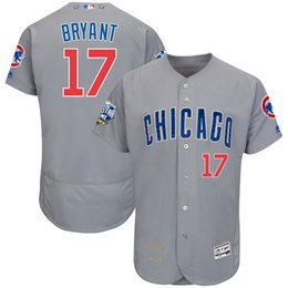 2016 Majestic All-Star Signature Flex Base Jersey Chicago Cubs Kris Bryant #17 Baseball Jerseys free shipping blue white gray