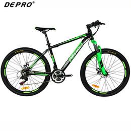 2017 marcos de carreras DEPRO Profesional 21 Velocidad Bicicleta de Montaña Bicicleta de Aluminio Marco Suspensión Tenedor Frenos Bicicletas 26 pulgadas MTB Road Racing Bicycle marcos de carreras en oferta