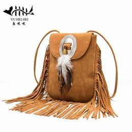 Wholesale- New Vintage Bohemian Fringe Messenger Crossbody Bag Purse Women Tassel  Boho Hippie Gypsy Fringed Tote Handbag Womens adaf95b8f6eda