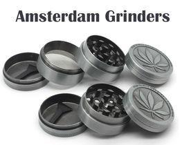 Wholesale Amsterdam Grinders Parts mm Grinders Zinc Alloy Herb Grinders Metal Ginder Herb Spice Crusher Magnetip Hot Grinder