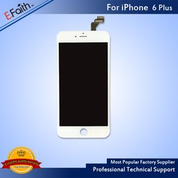 Wholesale-LCD Display Touch Digitizer Complete Screen Full Assembly Replacement For Grade A +++ iPhone 6 Plus & Free Shipping