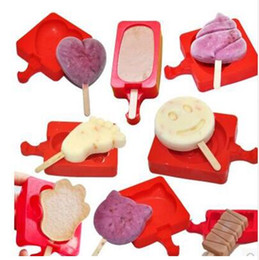 Wholesale Silicone Creative Homemade Ice cream Popsicle Mold Cartoon DIY Ice Cream Cake Mold Popsicle Sticks Mould TOP1687