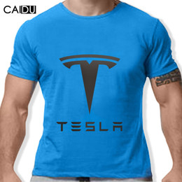 T-shirt en gros pour imprimé animal en Ligne-Vente en gros - Tesla Hommes T-shirts Short Sleeve Round Neck Ringer Lettre imprimé New Arrival Homme Tees Casual Boy t-shirt Tops Réductions