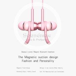 Wholesale Bluetooth Earphone For iPhone For Smart Phone PB Magnet Series ABS Aluminum Alloy In Ear With Retail Package