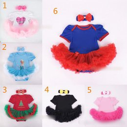Baby Christmas Xmas Avengers rompers 2pcs set suits happy birthday Newborn rompers Hair band cake dress B