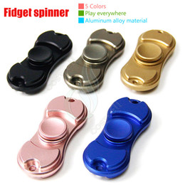 Wholesale New Fidget Spinner Toy Hand Spinners golden Aluminum alloy Colors Torqbar Style Bearing EDC Finger Tip Rotation anxiety HandSpinner