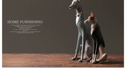 Contracted modern creative dog resin to set up a Scandinavian dog fashion house study home decoration handicraft