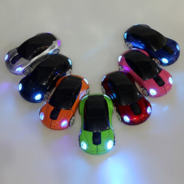 Wholesale Shaped Wireless Mice - Wireless Car Mice Mouse Mini Led Optical Mice 2.4Ghz 1600DPI 10m Colorful USB Car Shape Mouse with Package For PC Laptop Notebook