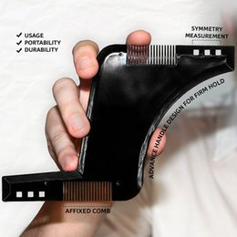 Wholesale The Ultimate Beard Guide Beard Shaping Tool Sex Man Gentleman Beard Trim Template hair cut molding trim template