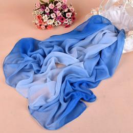 Wholesale fashion chiffon long scarves cheap women's elegant temperament gradual color scarves 18 color can choose DHL free shipping