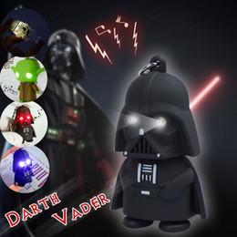 Promotion l'action de guerre En gros-2016 La Force éveille Star Wars Chevalier Noir Darth Vader Stormtrooper Anakin Yoda Robot Avec Lumière Sons Figurines d'action