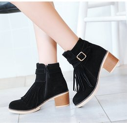 2018 winter Women Boots New Women Fashion Cross Bandage Boots Lady Girls Spring and Autumn Casual High Heel Boots Shoes